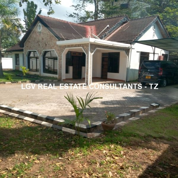 4 Bedrooms Semi-Furnished House for RENT at Masaki - with large garden and swimming pool